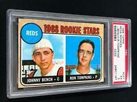 1968 Topps #247 Cincinnati Reds Rookie Stars Johnny Bench PSA 5 ~SC3-197