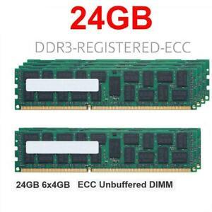 6x 4GB 24GB RAM RDIMM ECC REG DDR3 1333MHz HP Workstation C2 Z620 Z800 Z820