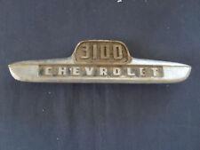 vintage Chevrolet Truck  3100  emblem ornament   metal  1950s   P-3718741