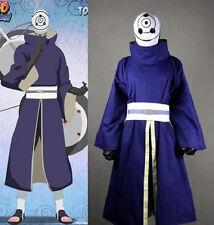 Naruto Akatsuki Ninja Tobi Obito Madara Uchiha Purple Jacket Cosplay Costume
