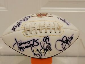 SIGNED 2002 Tampa Bay Buccaneers Mini Football NFC South Champs Sapp