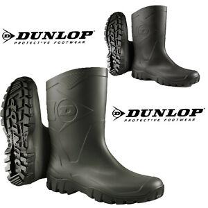 Ladies Mens Dunlop Wellington Boots Short Wide Calf Rain Garden Farm Gum Wellies