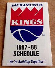 SACREMENTO KINGS 1987-88 pocket Schedule BUDWEISER