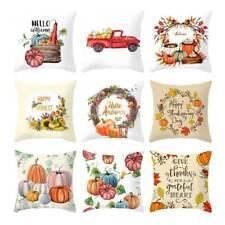 Halloween Home Sofa Decor Waist Fall Cover Cushion Pumpkin Throw Pillow Case~