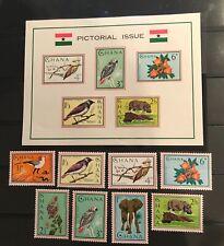 Ghana postage stamps lot of 13 birds flowers elephant hippo           Jl