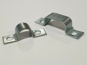 Zinc Plated Mild Steel Full Saddle Clamps for 1 or 2 Pipes / Hoses Din 72571