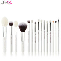 Jessup Makeup Brushes Set 15Pcs Face Powder Eyeshadow White Cosmetic Tool
