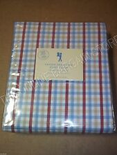 Pottery Barn Kids Hayden Small Plaid Bed Duvet Cover Full Queen FQ Red Blue