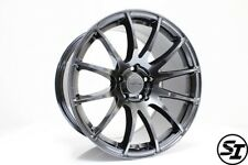 Rota Pwr Hyper Black Rims 18x95 38 5x1143 5x1143 Subaru Wrx 15 17 Sti 05 17