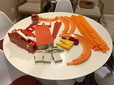 LARGE LOT VINTAGE HOTWHEELS TRACK & ACCESSORIES,CURVES,SUPER CHARGER