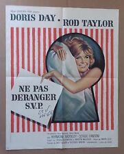 """AFFICHE CINEMA : """"Ne pas déranger SVP"""" avec Doris Day  1965"""