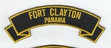 "Fort Clayton , Panama embroidered 4"" patch scroll tab"
