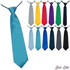 Kinder Krawatte 27 cm Jungen vorgebunden Seiden Look Hochzeit Kommunion
