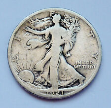 Semi-Key! 1921-S U.S. Walking Liberty Half Dollar - Fine Condition