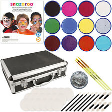 Snazaroo 12 Color Face Painting Kit with Sponges, Carry Case & How To Guide