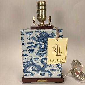 RALPH LAUREN Porcelain Blue & White Mandarin CHINOISERIE Dragon Table LAMP