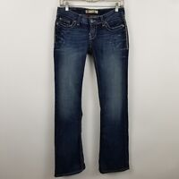 BKE Denim Buckle Stella Stretch Boot Cut Women's Dark Wash Blue Jeans Sz 26 x 33