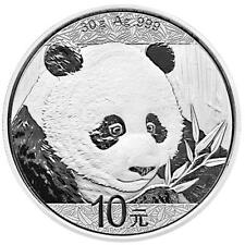 CHINE - 10 Yuan 2018-panda Ours - 30 g Argent Pièce Tampon Brillance ST