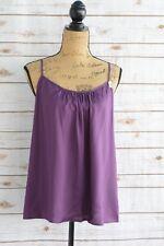 NWT Merona - Purple RAYON tank blouse PLEATED neckline ADJUSTABLE straps, M