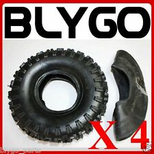 "4X GL 2PLY 3.50 / 4.10 - 4"" inch Tyre Tire + Tube  49cc Mini Quad Dirt Bike ATV"