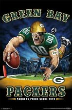 Green Bay Packers PACKERS PRIDE SINCE 1919 End Zone TD Dive NFL Theme Art POSTER