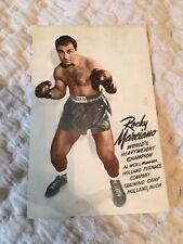 1950 Rocky Marciano Worlds Heavyweight Champion Holland Furnace Postcard