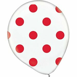 Clear Polka Dot Bright Modern Birthday Party Decoration Latex Balloons 9 COLORS
