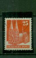 Bizone , Kölner Dom  Nr. 87 eg gestempelt
