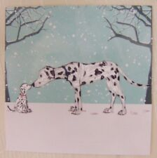 Cute Kissing Dalmatians in Snow Christmas Cards Pack of 10  ~100% for Charity~