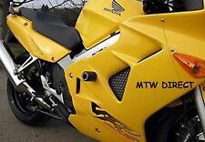 Honda VFR800i 1998-2001 R&G Racing classic round crash protectors bobbins black
