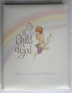 Baby Memory Book A Child Of God Catholic Vintage Gibson Unused