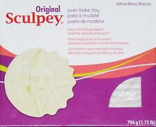 1.75 Pounds ORIGINAL SCULPEY WHITE POLYMER CLAY Oven Bake
