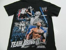 """THE ROCK """"TEAM BRING IT""""  WWE AUTHENTIC YOUTH  L  SHIRT"""