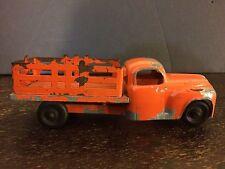 "Hubley Kiddie Toys Vintage Diecast Cars #85 Orange Lancaster PA 7 5"""