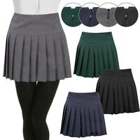 New Girls Kids Children Pleated Back Zip School Uniform Britney Skirt 7-16 Years