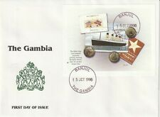 GAMBIA 15 OCTOBER 1998 RMS TITANIC MINIATURE SHEET FIRST DAY COVER b