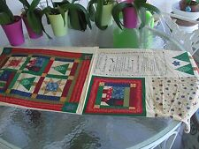 Quilting Cotton Fabric Panel Little Quilt & Little Pillow for Doll or Display