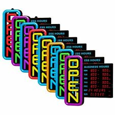 Green Light Innovations LED Multi-Colored Open/Business Hours Sign - GLI1051