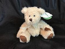 "NWT First & Main Scruffy Teddy Bear Plush 9"" Stuffed Animal Soft Brown Tan"