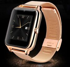 Woman's Classy Rose Gold Steel Metal Band BT Smart Watch Android F56