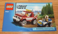 Genuine Lego City (4437) Manual ONLY For Building Blocks Set **READ**