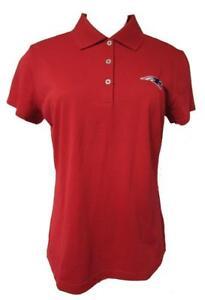 New England Patriots Womens Size Medium Adidas ClimaLite Polo Shirt A1 1258