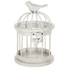 Mini White Metal Bird Cage. Interesting Tabletop Home Decor
