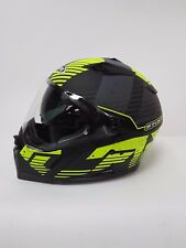 caberg stunt blizzard motorcycle helmet matt black/fluo yellow MEDIUM G/27