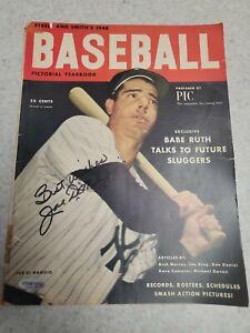 JOE DIMAGGIO Street & Smith 1948 Autographed Magazine comes with COA  Yankees
