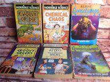 HORRIBLE SCIENCE & histories And GOOSEBUMPS children's Paperback Novels. Books