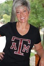 Texas A & M  rhinestone glitter bling shirt XS S M L XL XXL 1X 2X 3X 4X 5X