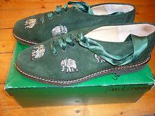 Damen Haferl Schuhe, Trachtenschuhe, Gr. 39, grün