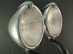 Trippe Speedlight Original 1930 's Vintage Accessory Driving Fog Light Pair