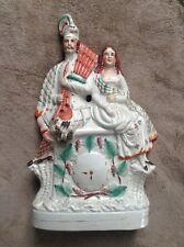 Ancien grand groupe personnages couple en Faïence de Staffordshire ?